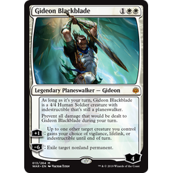 Magic löskort: War of the Spark: Gideon Blackblade