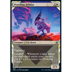 Magic löskort: Zendikar Rising: Prowling Felidar (alternative art)