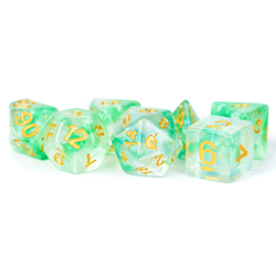Metallic Dice: Unicorn Resin Polyhedral 7-Dice Set - Icy Everglades