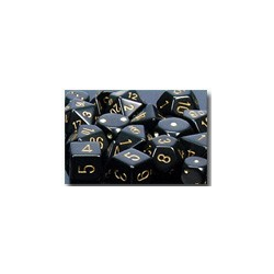 Opaque: Black/gold (36-dice set)