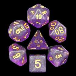 Purple Iridecent Dice (7-Die set)