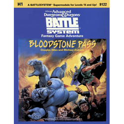 AD&D: Battle System, H1: Bloodstone Pass