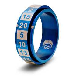 Dice Ring R20 (Size 10, blue)