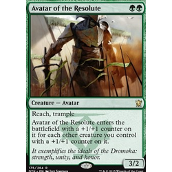 Magic löskort: Dragons of Tarkir: Avatar of the Resolute (foil)
