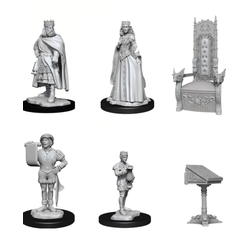 Deep Cuts (unpainted): Towns People: Castle I Scenery Pack