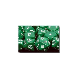 Opaque: Green/white (36-dice set)