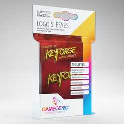 GameGenic Keyforge Logo Sleeves Red (40)