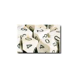 Marble Ivory/black (36-dice set)