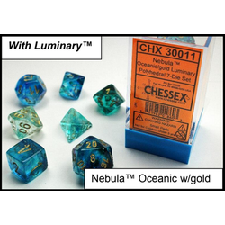 Lab Dice Nebula Oceanic/gold Luminary 7-Die Set