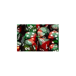 Gemini: Green-Red/white (12-die set)