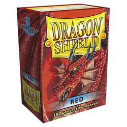 Dragon Shield Sleeves - Standard Red (100 ct. in box)