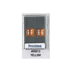 Precision Backgammon Dice (Yellow, Transparent)