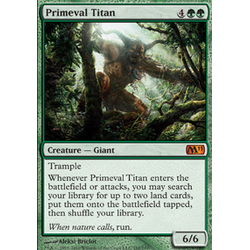Magic Löskort: Core Set 2011: Primeval Titan