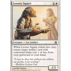 Magic löskort: Fifth Dawn: Leonin Squire (Foil)