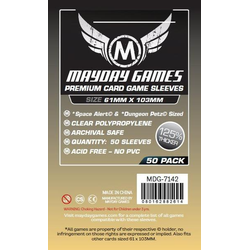 "Card Sleeves ""Premium Space Alert & Tash-Kalar"" Clear 61x103mm (50) (Mayday)"
