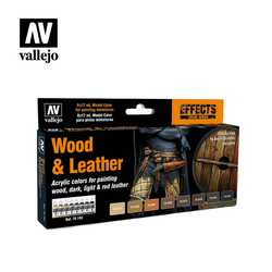 Vallejo Paint Set Wood & Leather