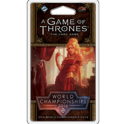 A Game of Thrones LCG (2nd ed): 2016 World Champion Deck