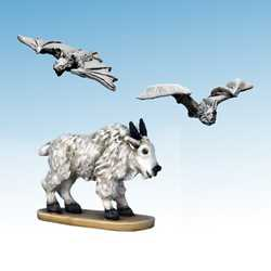 Frostgrave: Mountain Goat & Blood-drinker Bats