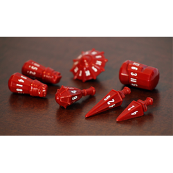 PolyHero Dice: Warrior 7-Dice Set Crimson & Bone White