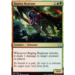 Magic löskort: Rivals of Ixalan: Raging Regisaur