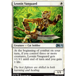 Magic löskort: Core Set 2019: Leonin Vanguard