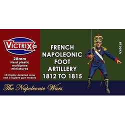 Victrix 28mm Napoleonic French Artillery 1812 to 1815 (3 Guns)