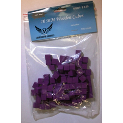Mayday 10mm Wooden Cube Tokens Purple (100st)