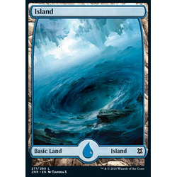 Magic löskort: Zendikar Rising: Island (v.3)