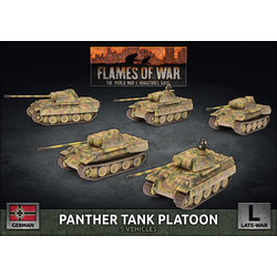 German Panther A Tank Platoon (plastic)
