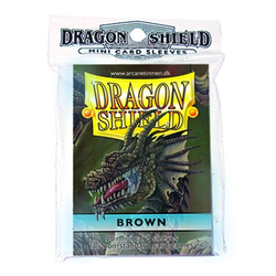 Dragon Shield Sleeves - Mini Brown (50 ct. in bag)