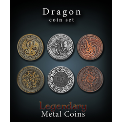 Metal Coins Dragon (24 st)