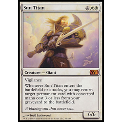 Magic löskort: Core Set 2011 (M11): Sun Titan (Foil)