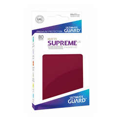"Card Sleeves Standard ""Supreme UX"" Matte Burgundy 66x91mm (80) (Ultimate Guard)"