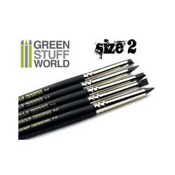 Green Stuff Silicone Shapers SIZE 2 - BLACK FIRM