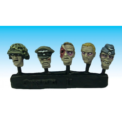 WWII German Zombie Heads