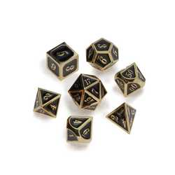 Gold Series: Black 7-die set