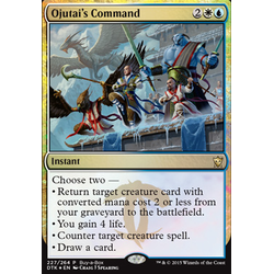 Magic löskort: Dragons of Tarkir: Ojutai's Command (Buy-a-Box Promo)