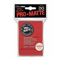 Ultra Pro Deck Protector Sleeves Pro-Matte Red (50)