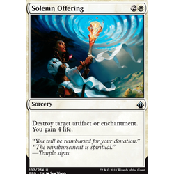 Magic löskort: Battlebond: Solemn Offering