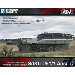 Rubicon: German Sdkfz 251/D Halftrack 3-in-1 Set
