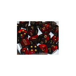 Gemini: Black-Red/gold (12-die set)