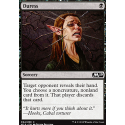 Magic löskort: Core Set 2019: Duress