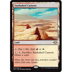 Magic löskort: Modern Horizons: Sunbaked Canyon