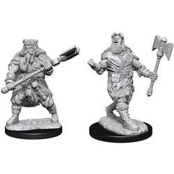 Nolzur's Marvelous Miniatures (unpainted): Human Barbarian Male