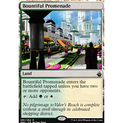 Magic löskort: Battlebond: Bountiful Promenade