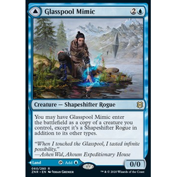 Magic löskort: Zendikar Rising: Glasspool Mimic // Glasspool Shore