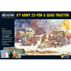 British 8th Army 25-pdr & Quad Tractor
