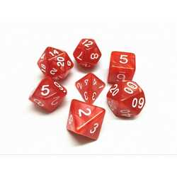 Red/White Pearl Dice (7-Die set)