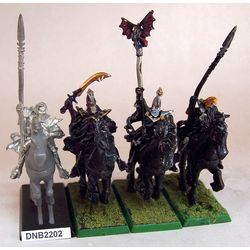 Dark Elf Dark Riders med Champion, Standard Bearer (4st, metall)