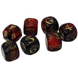 The One Ring: Red/Black with Gold Dice Set